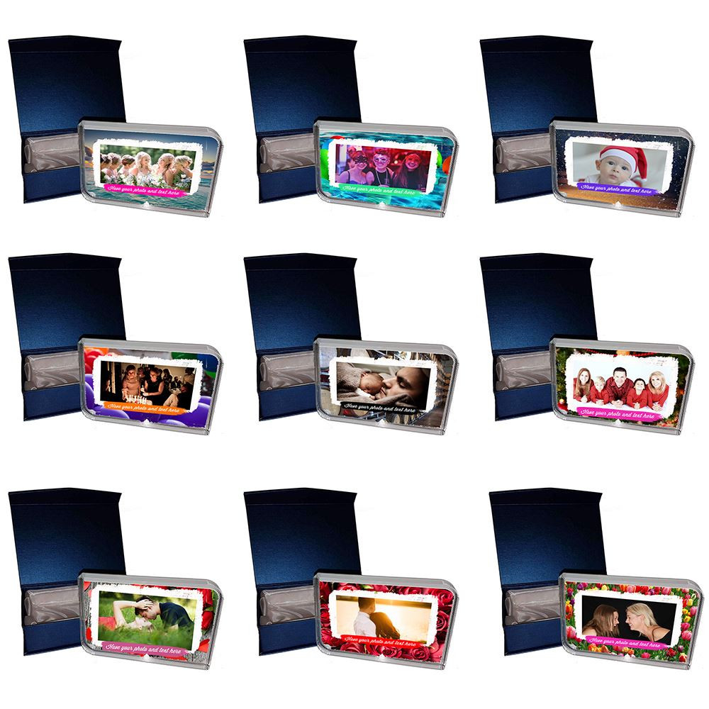 Personalised Gift boxed Photo Crystal Block - Rounded Corners Large - Any Photo Or Message Printed