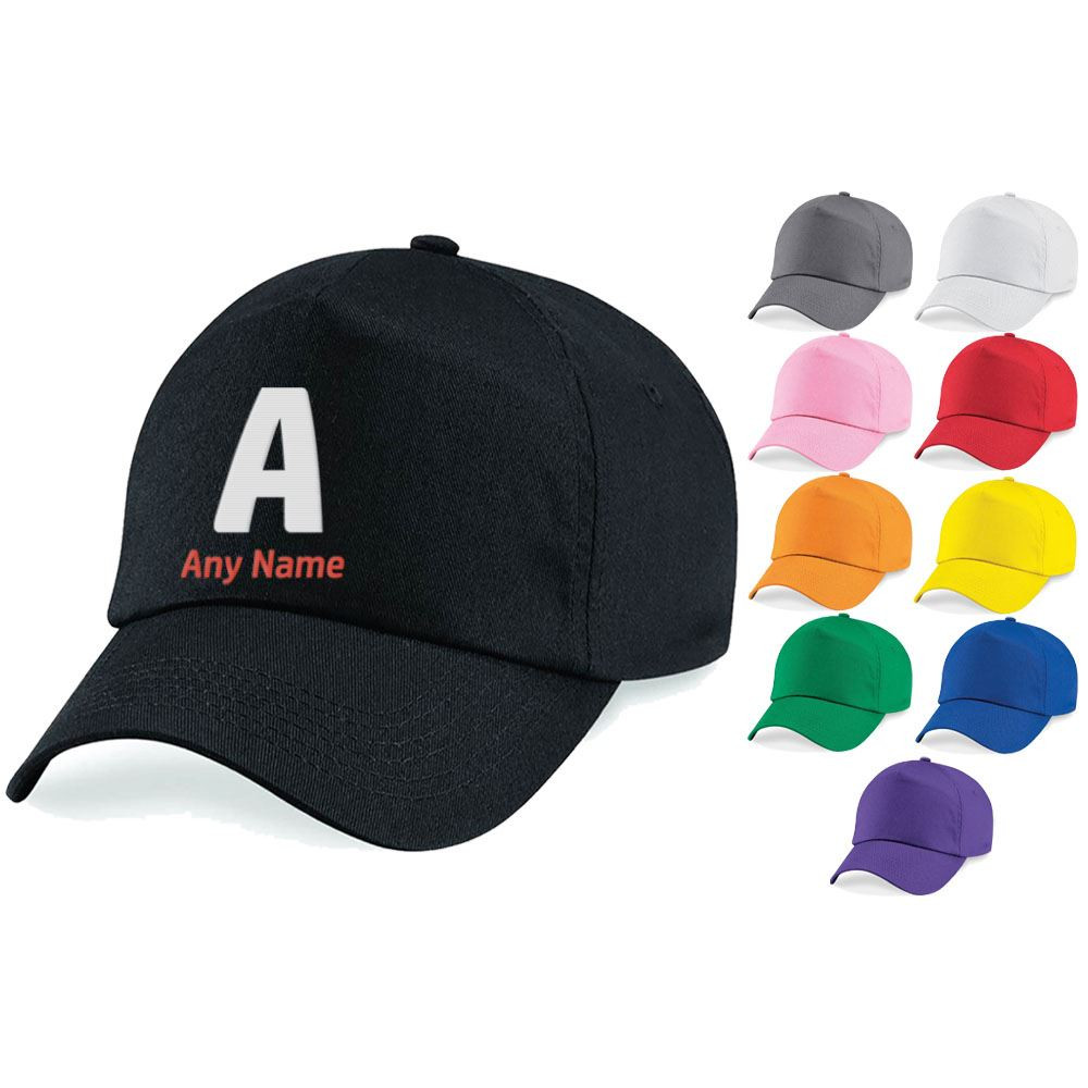 Embroidered Adults Cap with Initial and Name Design